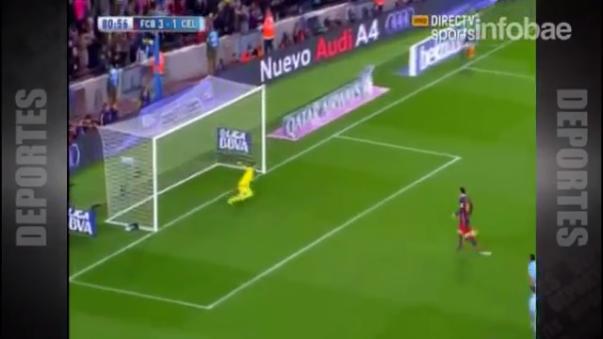 Este es el increíble penal de Messi y Suárez en 2016.