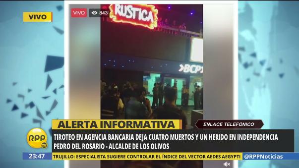 La información del alcalde de Los Olivos.