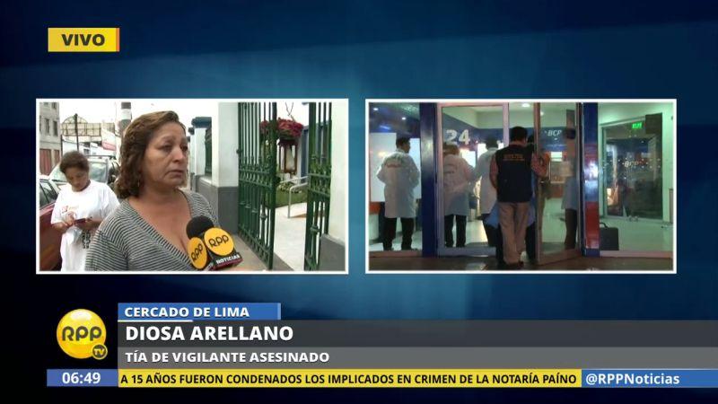El vigilante asesinado trabajaba en la discoteca donde Eduardo Glicerio Romero Naupay disparó a quemarropa a los presentes.