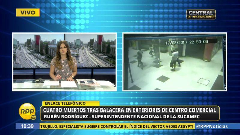 Eduardo Glicerio Romero Naupay tenía una licencia de posesión de una pistola Bersa.