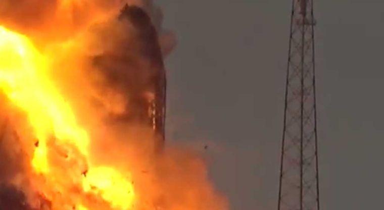 El último lanzamiento que intentó SpaceX terminó así.