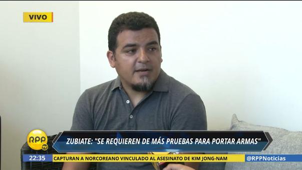Roberto Zubiate, consultor en Seguridad y Defensa, afirmó que los controles para obtener la licencia de armas no son suficientes.