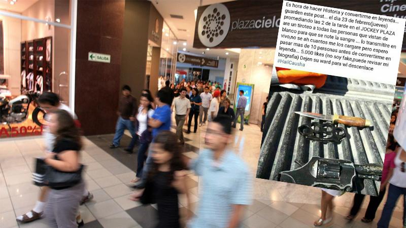 El ministro Basombrío asegura que no hay peligro en el centro comercial Jockey Plaza