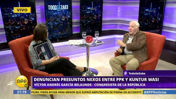 Víctor Andrés García Belaunde sostuvo que Kuntur Wasi