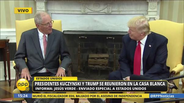 Los mandatarios aseguraron ante la prensa que las relaciones bilaterales entre Estados Unidos y Perú son sólidas.