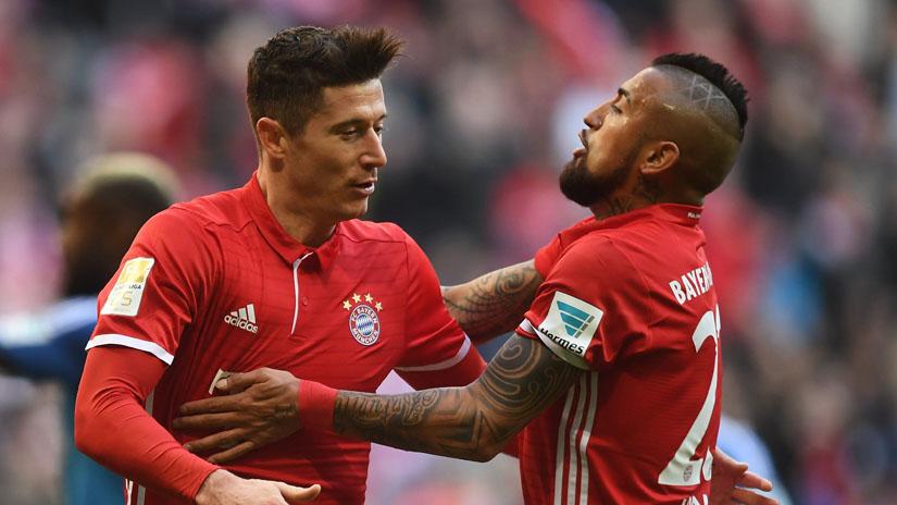 Lewandowski anotó un triplete en el gran triunfo de Bayern Munich.