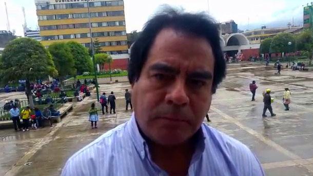 Alcalde Provincial de Huancayo, Alcides Chamorro Balbín.