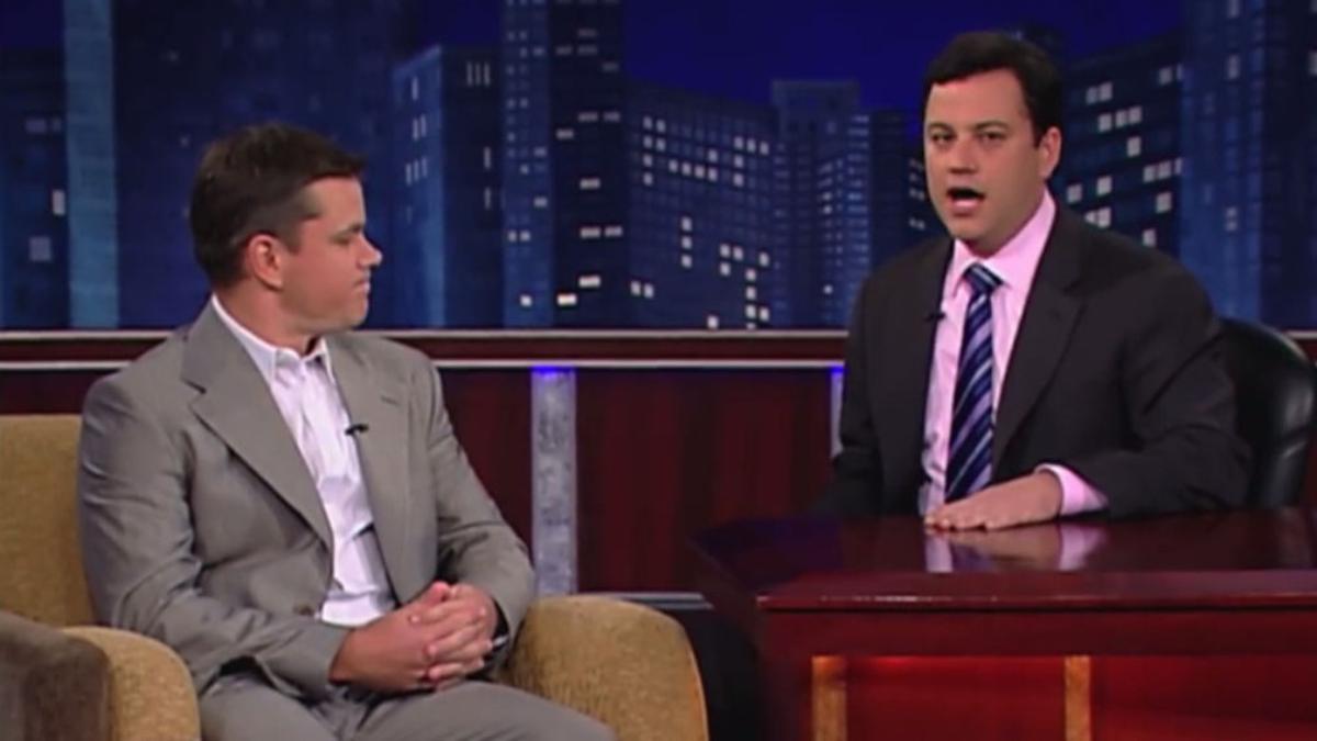Jimmy Kimmel  lleva doce años cultivando una hilarante enemistad con el actor.