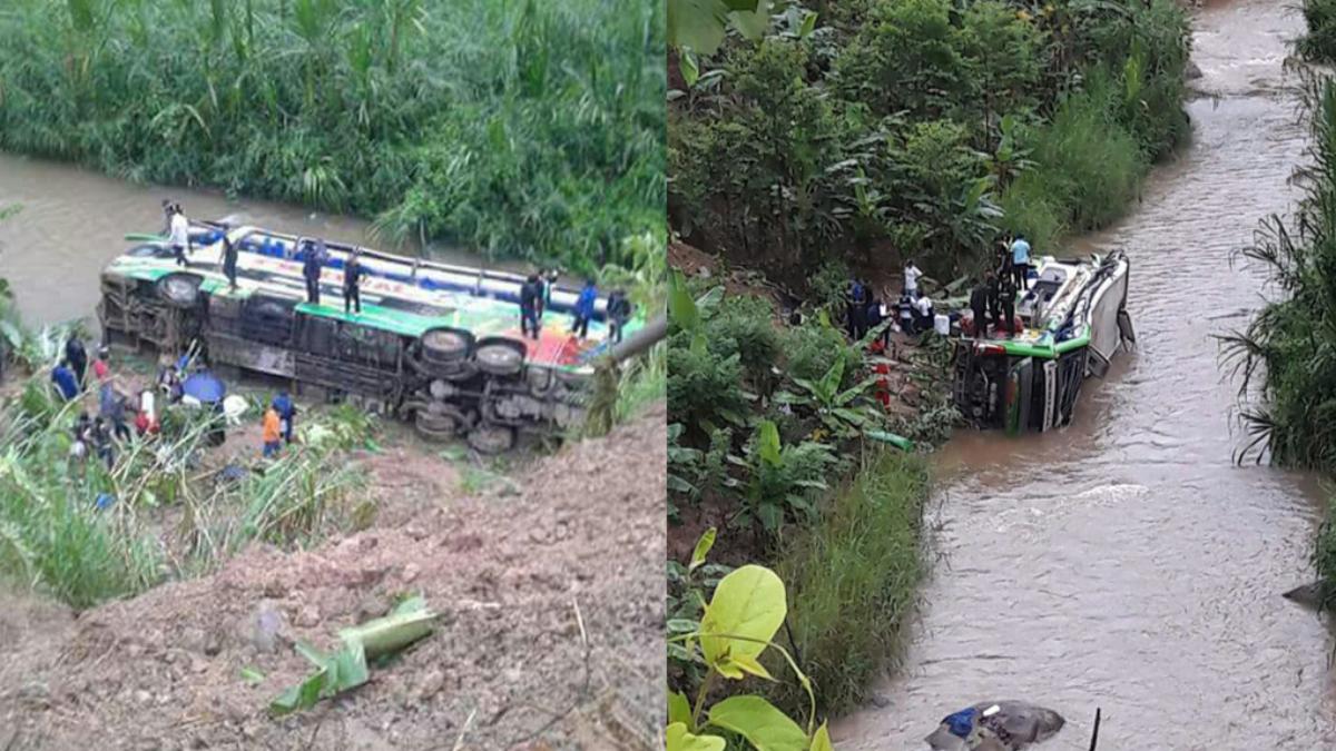 Pasajeros fueron conducidos al hospital Manuel Higa Arakaki.