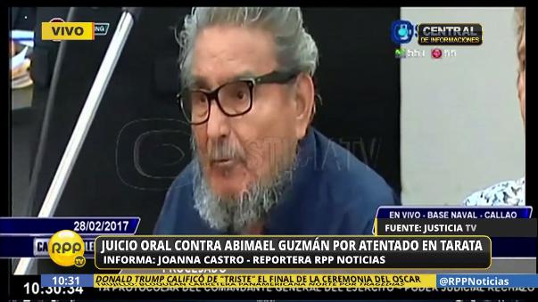 Guzmán cumple condena a cadena perpetua por el delito de terrorismo. El caso Tarata le significaría una pena adicional.