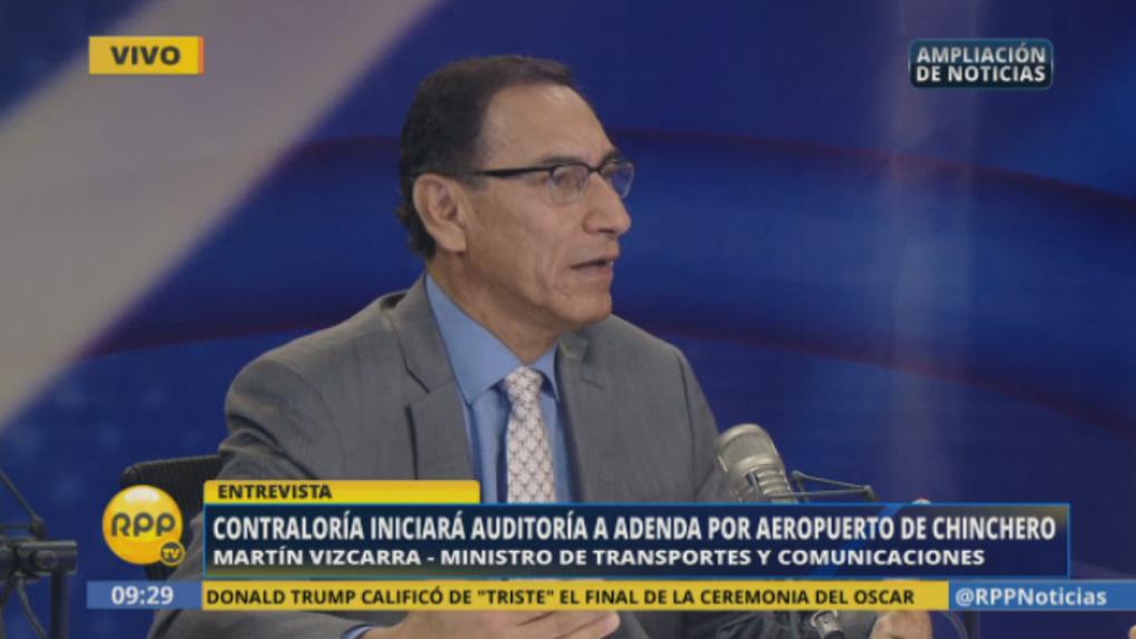 Vizcarra ha señalado que Graña y Montero tiene la construcción de un by pass en Lima adjudicado pero que aún no empiezan las obras.