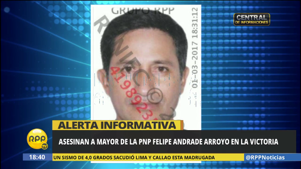 Asesinan a mayor Felipe Andrade Arroyo.