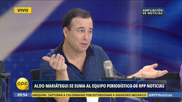 Aldo Mariátegui se integra al equipo de Ampliación de Noticias.