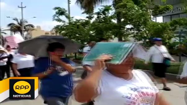 Protesta del sector Salud en Lambayeque.