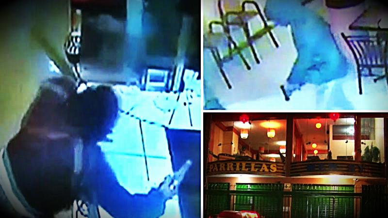 Los delincuentes se llevaron el dinero de la caja y también asaltaron a los comensales que quedaban en el local.