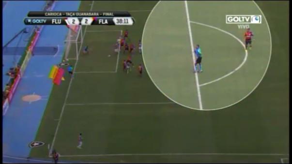 Paolo Guerrero cometió penal ante Fluminense.