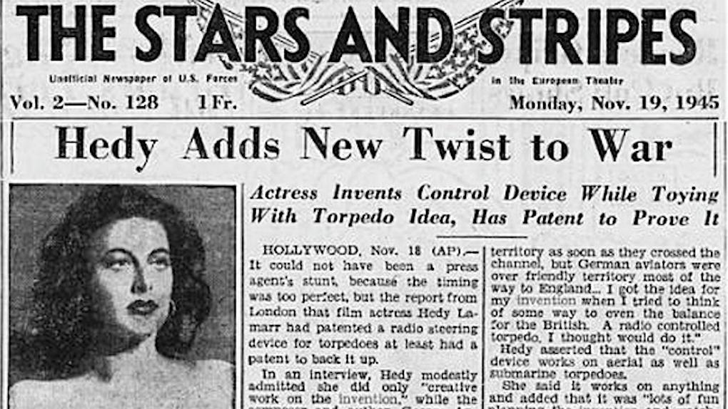 La actriz Hedy Lamarr también era ingeniera.