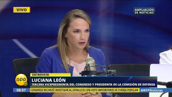 En diálogo con RPP Noticias, Luciana León explicó así la abstención del APRA en la votación para investigar o no el caso del Sodalicio.