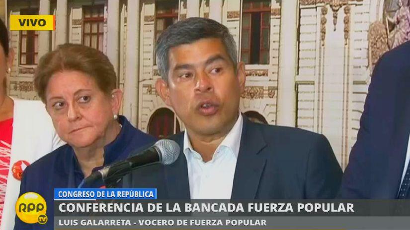 Luis Galarreta, que se considera dentro que cree que