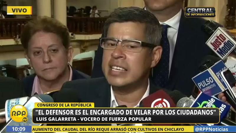El parlamentario señaló que en Fuerza Popular trabajarán para que se sancione a los culpables por el caso del SOdalicio