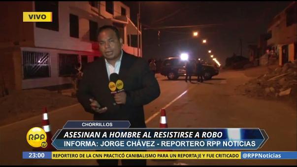 Nuestro reportero Jorge Chávez reportó el hecho desde la urbanización Las Delicias en Chorrillos.