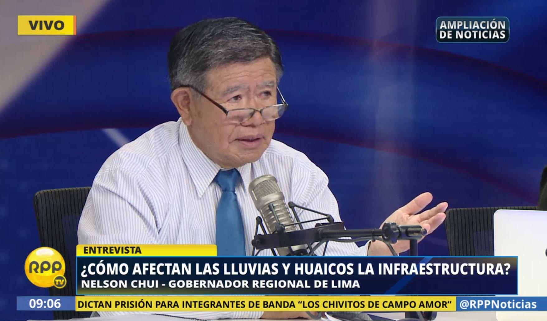 Nelson Chui estuvo este viernes en Ampliación de noticias y explicó los problemas que afronta Lima fuera de la zona metropolitana debido a los huaicos.