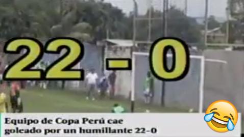 El abultado marcador sucedió en la Etapa Distrital de la Copa Perú