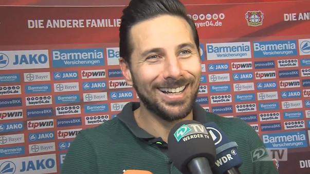 Claudio Pizarro declaró al canal en español del Werder Bremen tras el partido ante el Bayer Leverkusen.