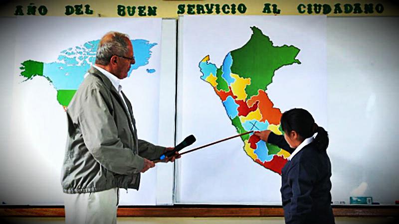 El presidente llegó a la provincia de Huancayo para participar del inicio del año escolar junto a los alumnos del colegio Roberto Quispe Pomalaza.