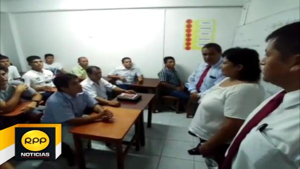 Autoridades del Inpe y alumnos