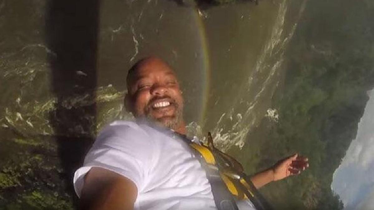 Will Smith cumplió un sueño que llevaba postergando dos décadas: lanzarse desde el puente de las cataratas Victoria, en el sudeste de África.