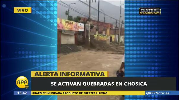 Las quebradas se volvieron a activas en el distrito al oeste de Lima.