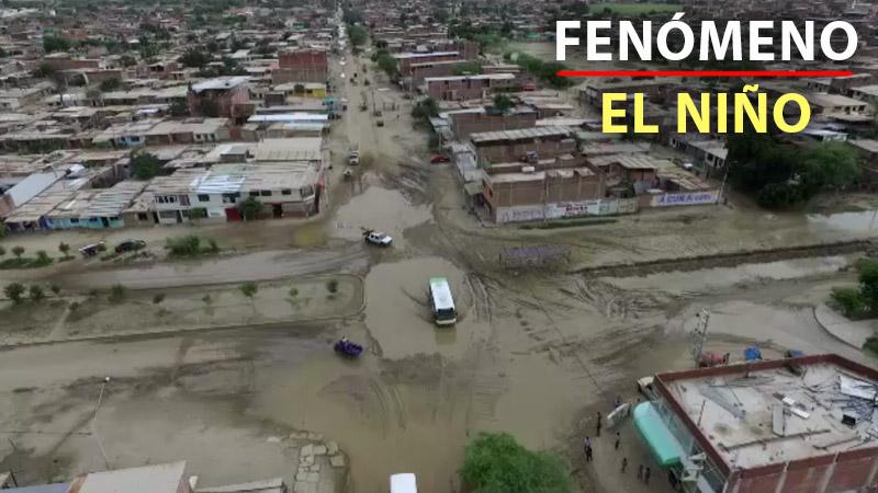 Estas son las tomas panorámicas de daños ocasionados por las lluvias en Piura.