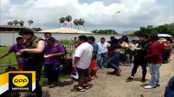 Cientos de personas quedaron varadas en Chiclayo tras la interrupción de las vías por las lluvias.