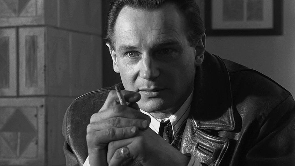 Liam Neeson como Oskar Schindler.