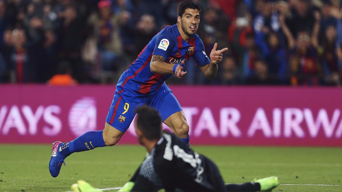 El gol de Suárez significó el 1-1 parcial del Barcelona vs. Valencia.