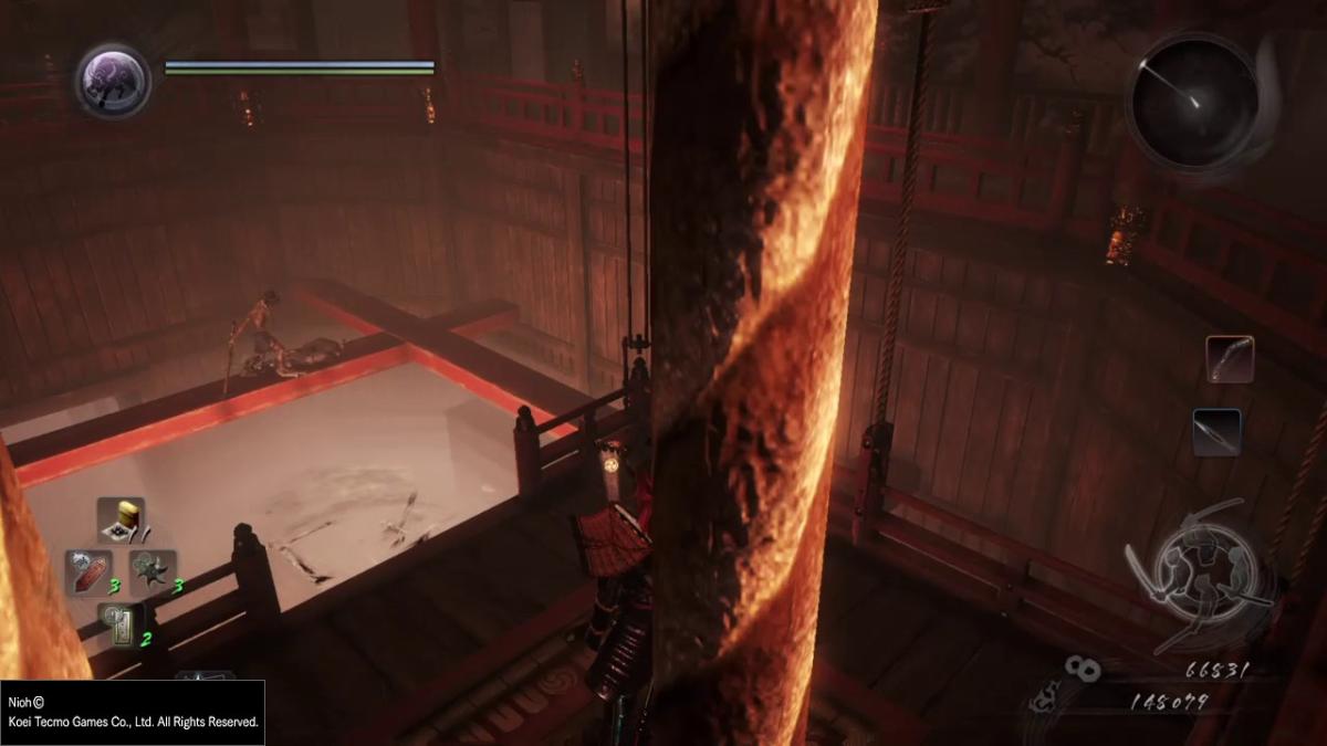 Acá un curioso glitch con el que me crucé al pasar Nioh.
