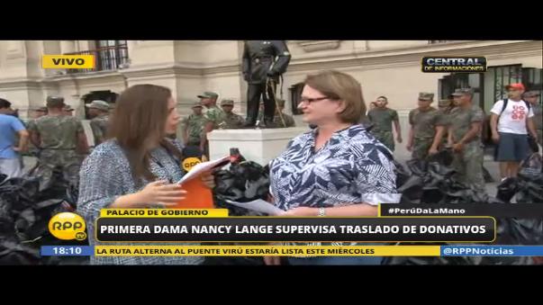 Nancy Lange conversó con RPP Noticias sobre el traslado y acopio de donaciones.