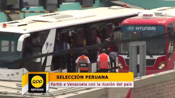 El plantel de La Bicolor viajó por chárter a Venezuela.