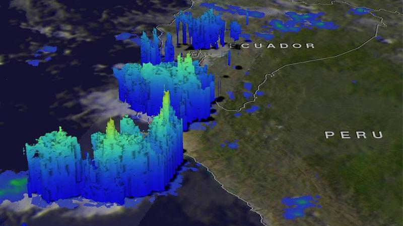Según la NASA estas tormentas se han producido por la temperatura del agua del Pacífico en nuestras costas.