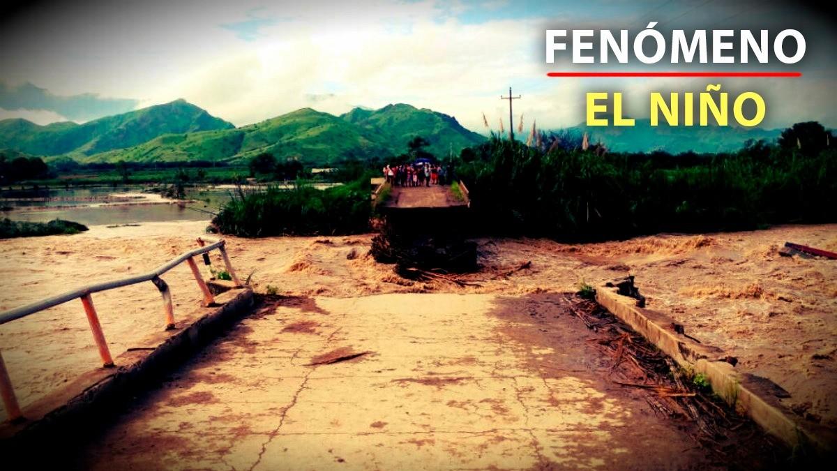 El puente Tablazo en el distrito Chongoyape, provincia Chiclayo, región Lambayeque, colapsó y dejó incomunicados varias localidades.