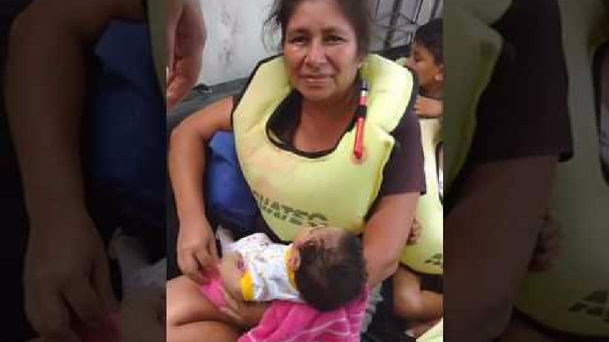Este es el momento en el que el bebé es rescatado en Catacaos (Piura)