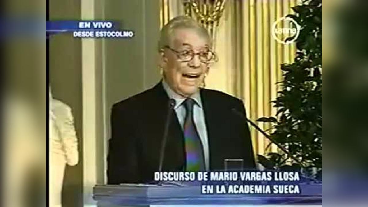 Discurso de Vargas Llosa tras recibir el Premio Nobel de Literatura.