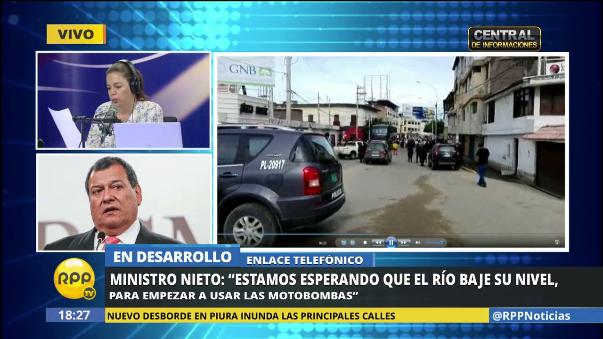 Ministro Jorge Nieto le dijo a los vecinos de Piura que la ayuda llegará pronto.