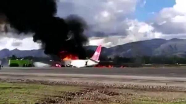 Las operaciones en el aeropuerto Francisco Carlé quedaron suspendidas por lo menos hasta mañana, informó la Macroregión Policial de Junín.