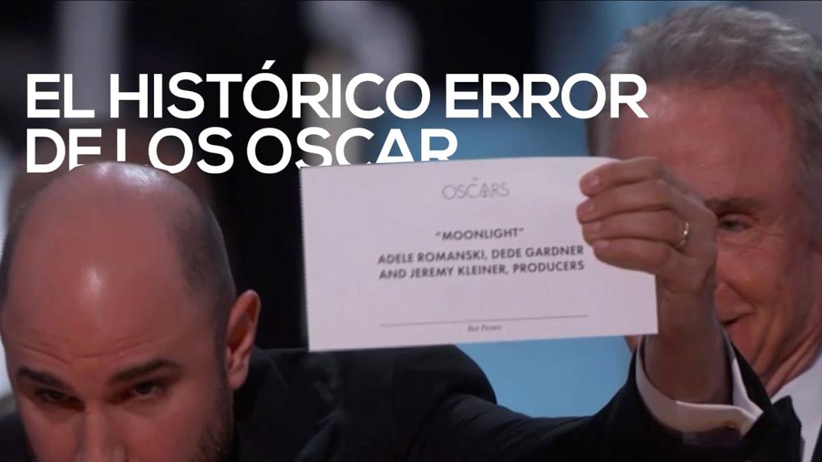 Histórico error en los Oscar