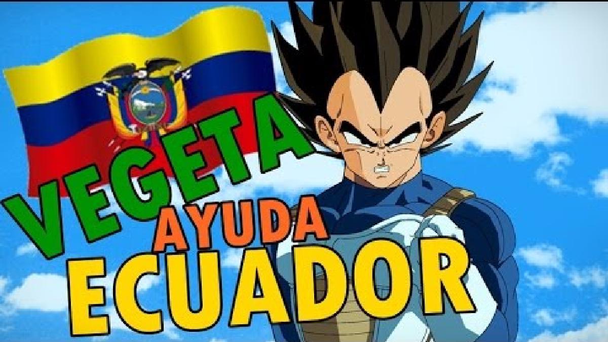 Mensaje de Vegeta, tras el terremoto de 2016 en Ecuador.