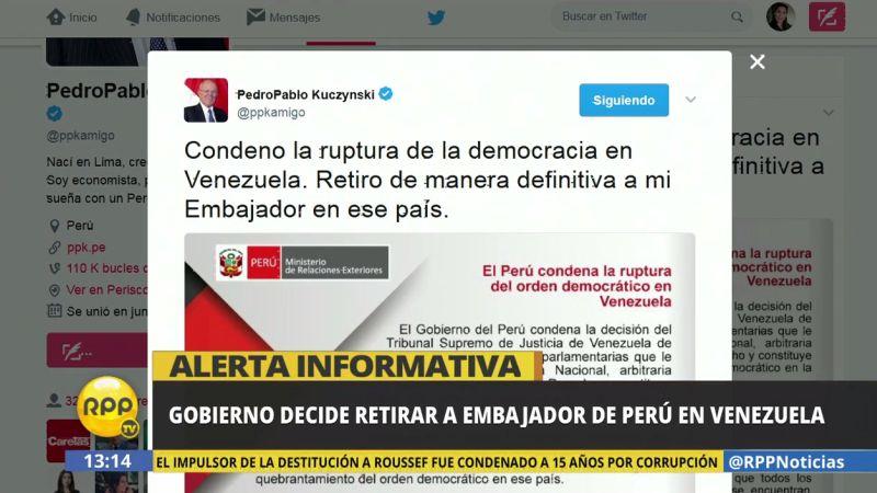 Para la Cancillería, la decisión del Tribunal Supremo de Justicia de Venezuela violenta el estado de derecho.