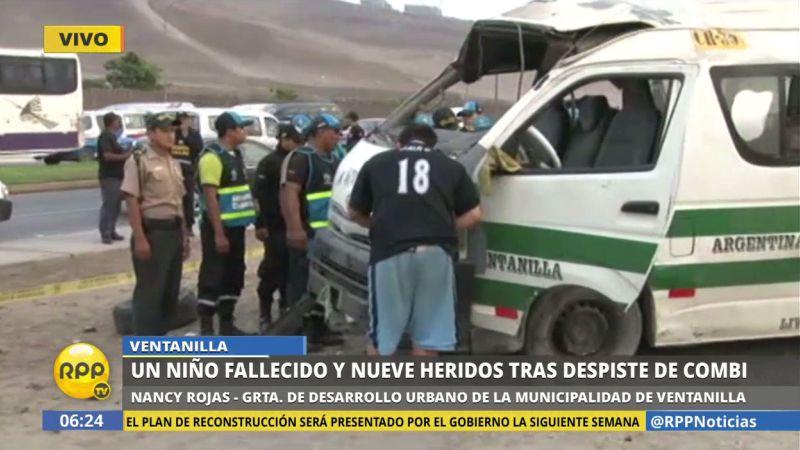 El accidente ocurrió en la avenida Néstor Gambetta, a la altura de la Refinería La Pampilla.