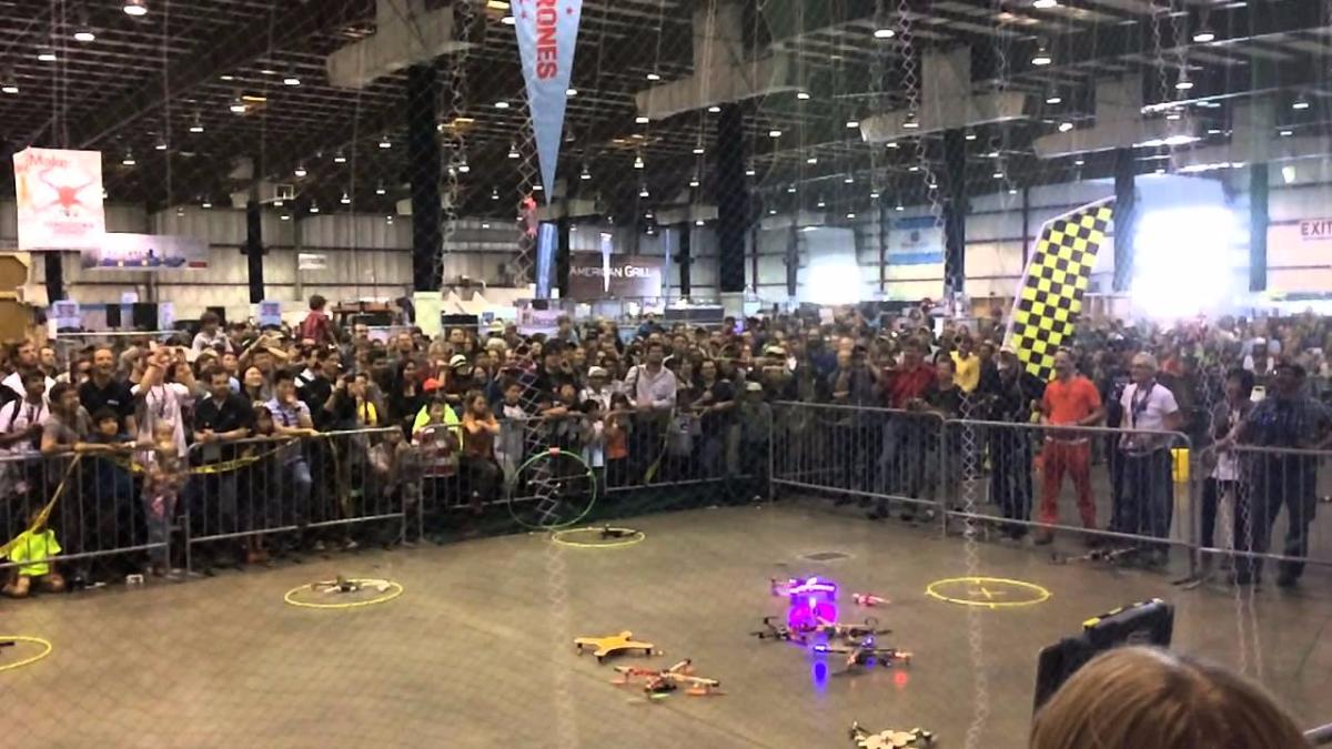 En el Maker Faire 2014 de Nueva York se realizó una competencia de drones.